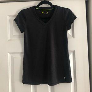 Black Short Sleeve Workout Shirt